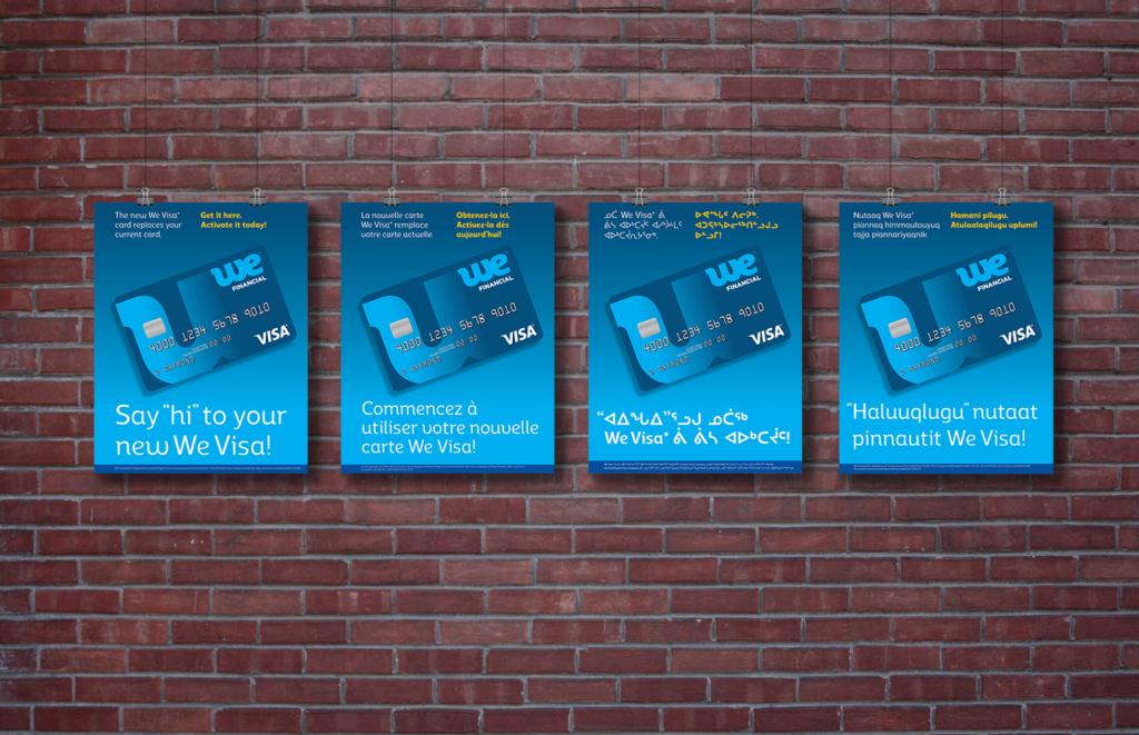 We Visa launch posters